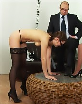 Giving a spanking lesson to a teacher