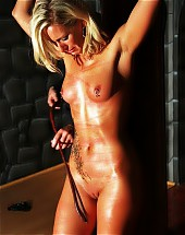 tied up oiled and lashed cutie