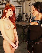 Harsh whip cracks hot redhead